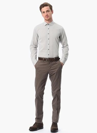 NetWork Uzun Kollu Klasik Gömlek Bej